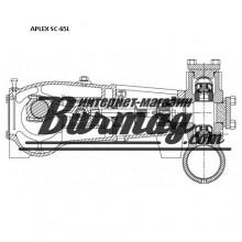 7203-0160-00K  Вкладыш( 2шт) для бурового насоса Аплекс SC-65L (Aplex)