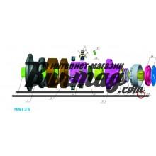 Цилиндр тормоза (brak cylinder) Poclain Hydraulics