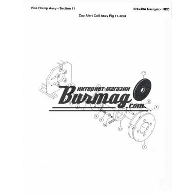 Комплект роликов тисков 24х40-100х120(болт -1шт,ролик-1шт,втулка-1шт,шайба -2шт) Вермеер(Vermeer)