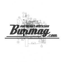 224953001 Вентилятор двигателя 24х40А б/у Вермеер(Vermeer)