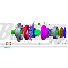 Ведущий вал (drive shaft) Poclain Hydraulics