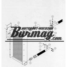 251231001 Верхний патрубок масляного радиатора 33х44 Вермеер(Vermeer)