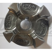 020383003800 ROTEX 38  GG ступица чугунная  D=38 H7 шпоночный паз по DIN