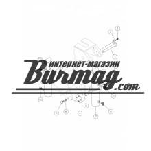 239275001 Гидроцилиндр поворота тисков 50х100 - 130х150 (296325767) Вермеер(Vermeer)