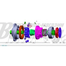 Поршень (plunger piston) Poclain Hydraulics