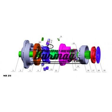 Кольцо поршня (piston ring) Poclain Hydraulics
