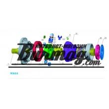 Вал тормоза (breke shaft) Poclain Hydraulics