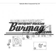 119885005 Ремкомплект блока цилиндров гидромотора протяжки 80х100 Вермеер(Vermeer)